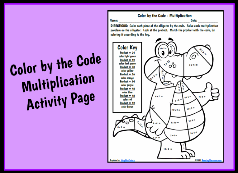 ... Go Back > Gallery For > Multiplication Coloring Worksheets 4th Grade