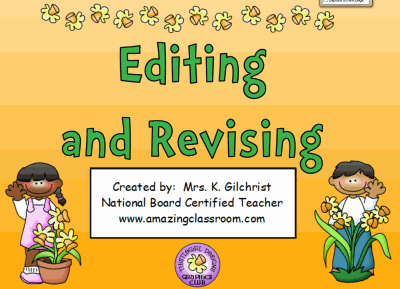 Editing & Revising Practice Lesson