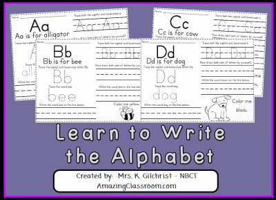 Learn to Write the Alphabet Lesson