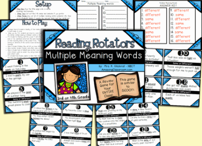 Multiple Meaning Words Game
