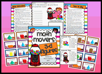 Math Movers 3-D Figures Game