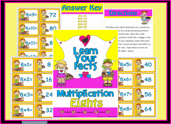 Multiplication Eights Math Station