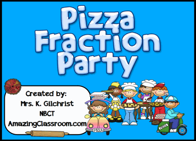 Pizza Fraction Party Flipchart