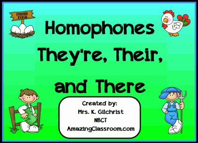 Homophones Their, They're, or There