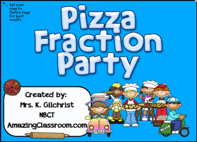 Pizza Fraction Party for Smartboard