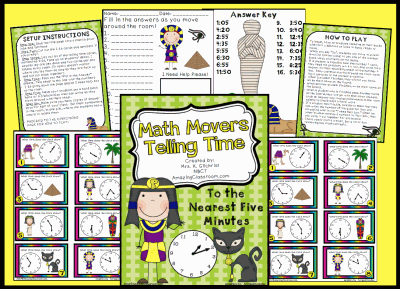 Math Movers Telling Time Game