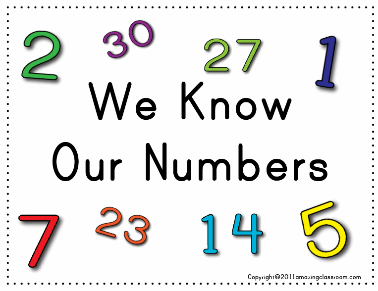 We Know Our Numbers