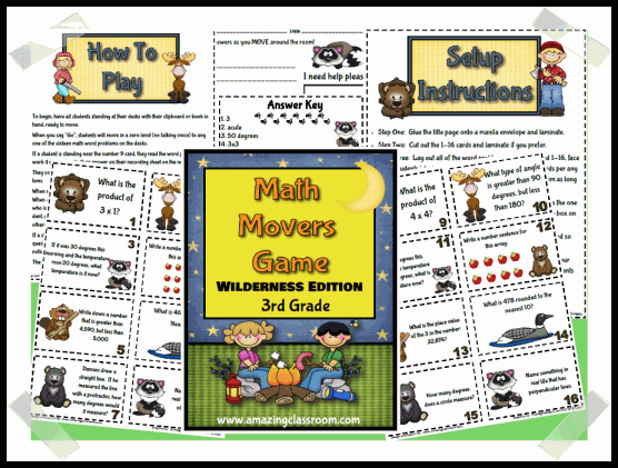Math Movers Game Wildlife Edition