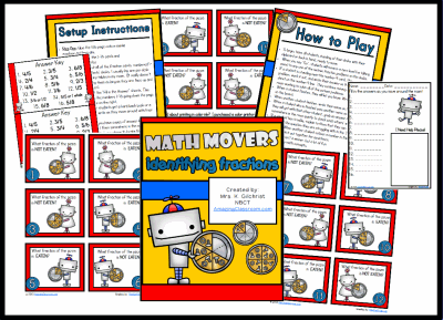 Math Movers Fractions Review Game