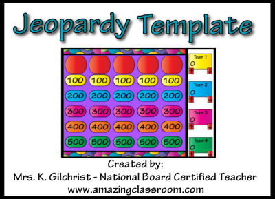 kids jeopardy template - jeopardy template promethean activinspire activboard