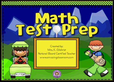 Math Test Prep Review Golf Game