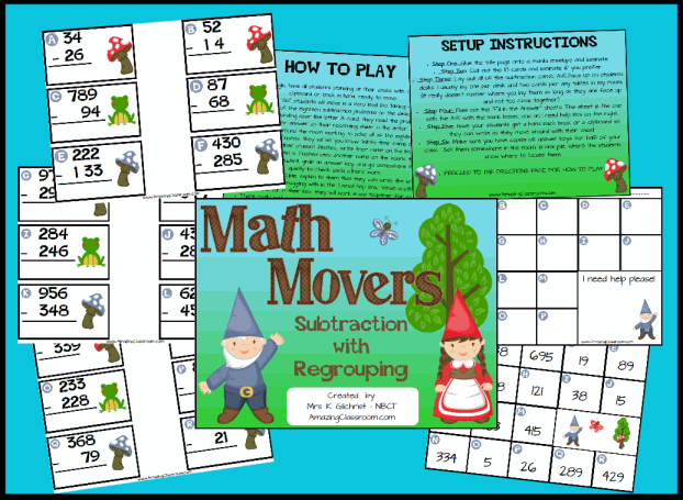 Math Movers Game Subtraction