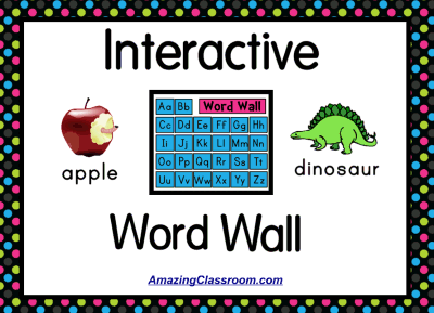 Interactive Word Wall Activity