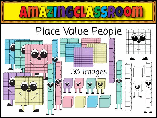 place value people resource pack promethean resource Base Ten Clip Art Place Value Blocks