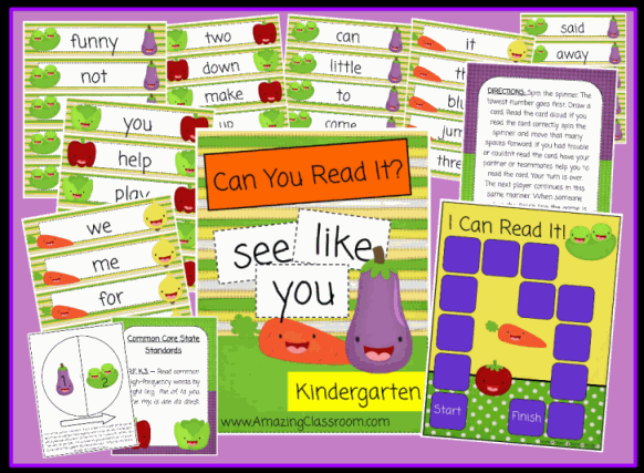 Can You Read It? Kindergarten Game