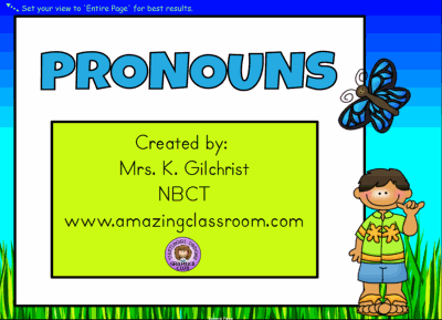 Pronouns - Smart Notebook Lesson