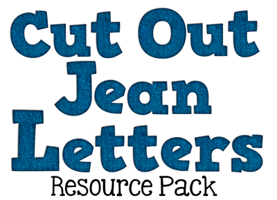 Cut Out Jean Letters Alphabet