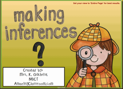 Make Inferences & Draw Conclusions