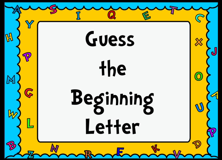 communication arts whiteboard resources promethean With guess the letter
