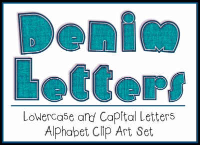 Denim Letters Alphabet Set