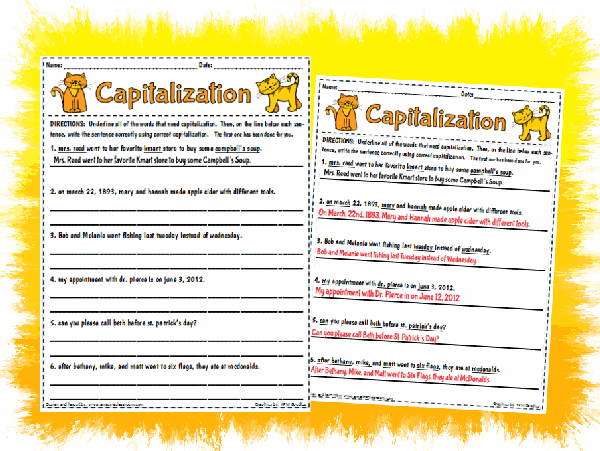 Communication Arts Grammar Capitalization Common