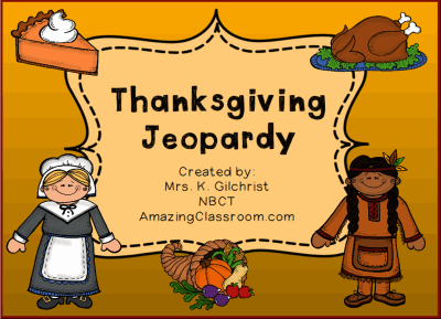 Thanksgiving Jeopardy Game SMART