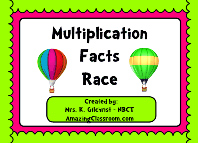 Multiplication Facts Race Game