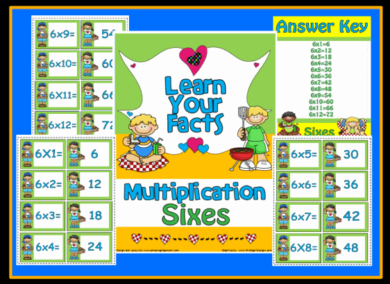Multiplication Sixes Math Center