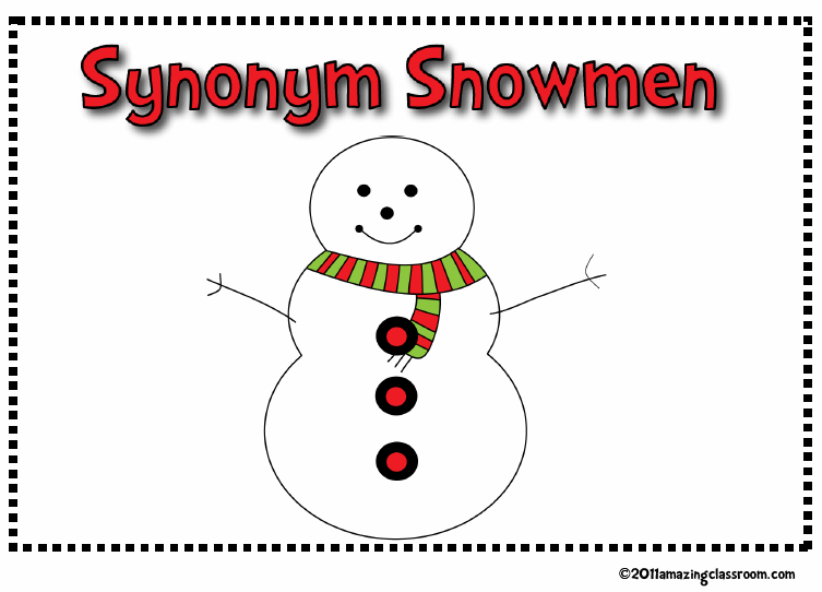 Synonym Snowmen Center Activity