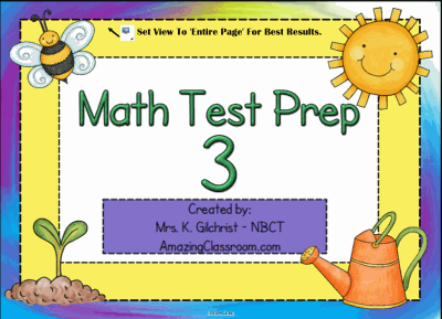 Math Test Prep 3 Smart Notebook