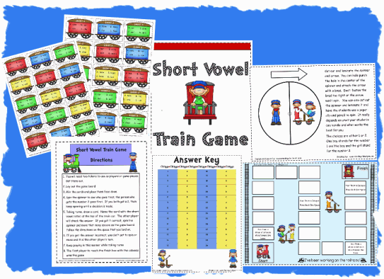 Short Vowel Train Game