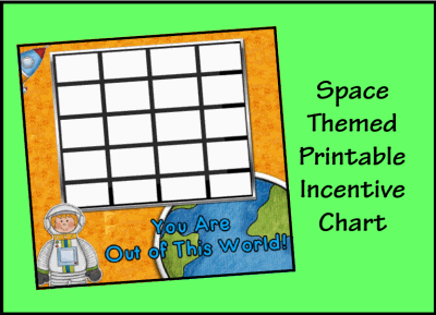 Space Themed Incentive Chart