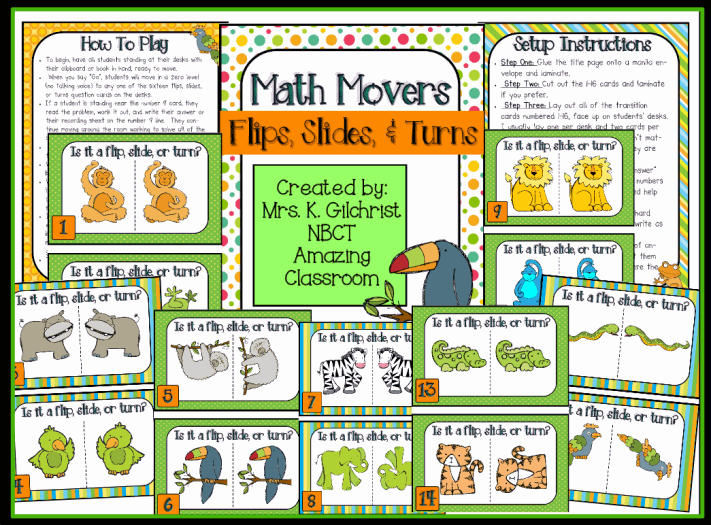 Math Movers Flips, Slides, & Turns