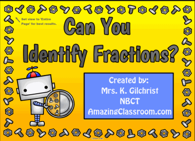 Identifying Fractions Introduction