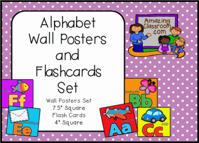 Alphabet Wall Posters & Flashcards