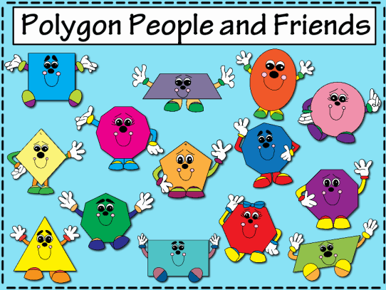 Classroom Border Design ~ Polygon people and friends promethean resource gallery