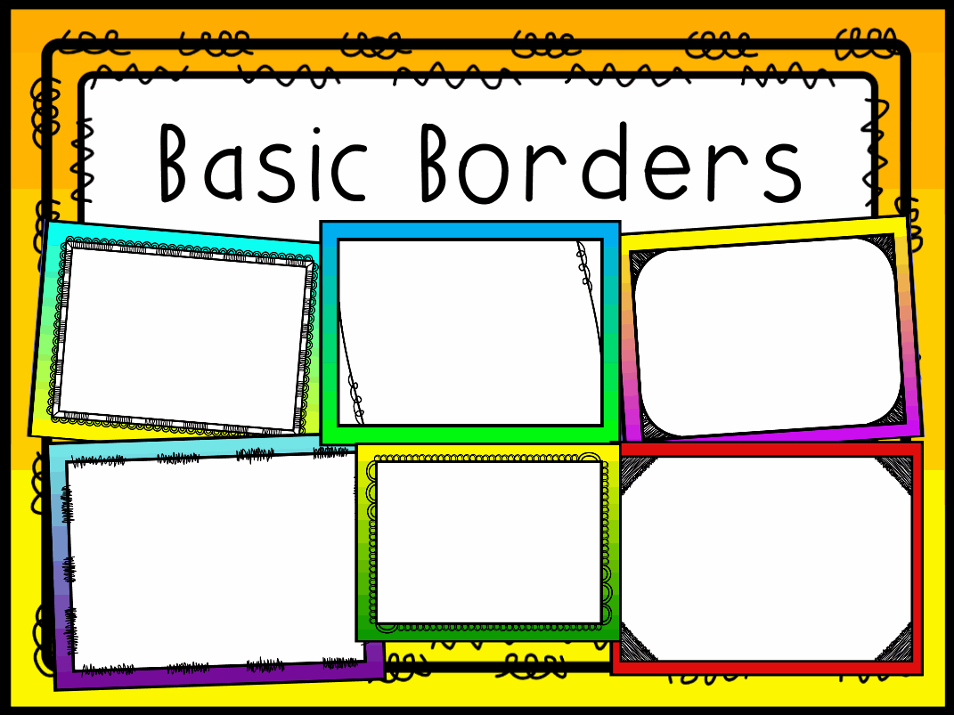 Basic Borders Background Pack