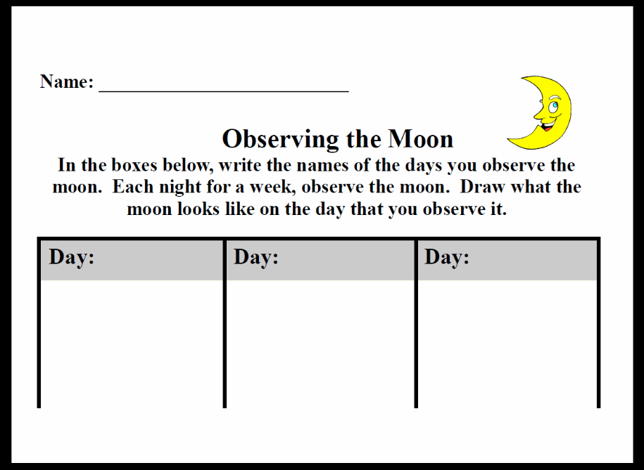 Observing the Moon (Moon Journal)