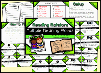 Multiple Meaning Words Review Game