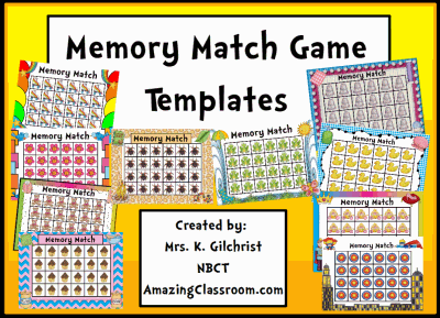 Memory Concentration Game Templates