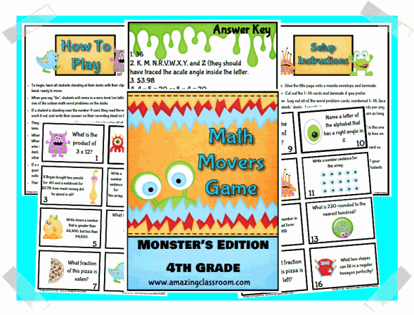 Math Movers Game Monster's Edition