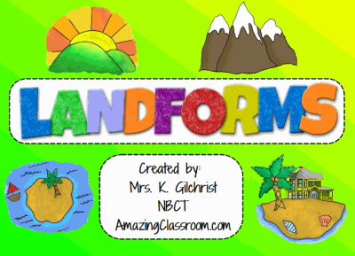 All About LANDFORMS - Smartboard