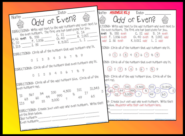 Number Names Worksheets : odd and even word problems ~ Free ...