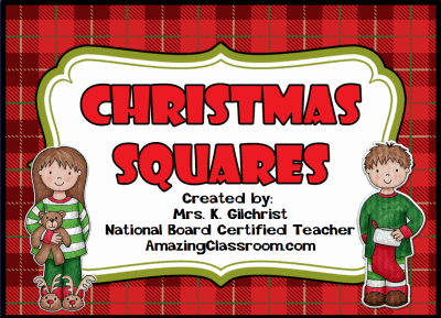 Christmas Squares Review Game