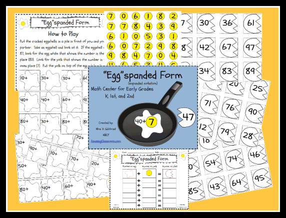 Expanded Form Math Center Game