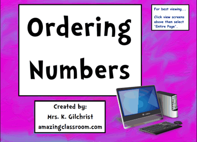Ordering Whole Numbers Practice