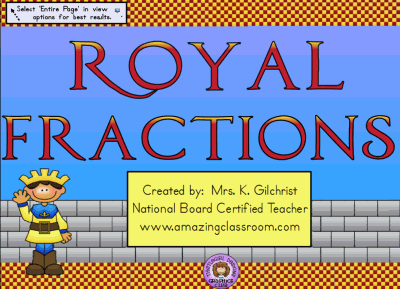 Learn About Fractions The Royal Way