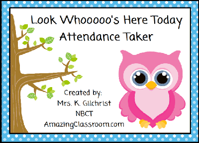 Owls Attendance Taker Whooo's Here?
