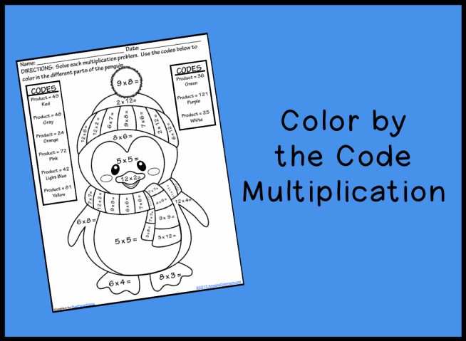 Multiplication Coloring Worksheets 4th Grade Color by the code