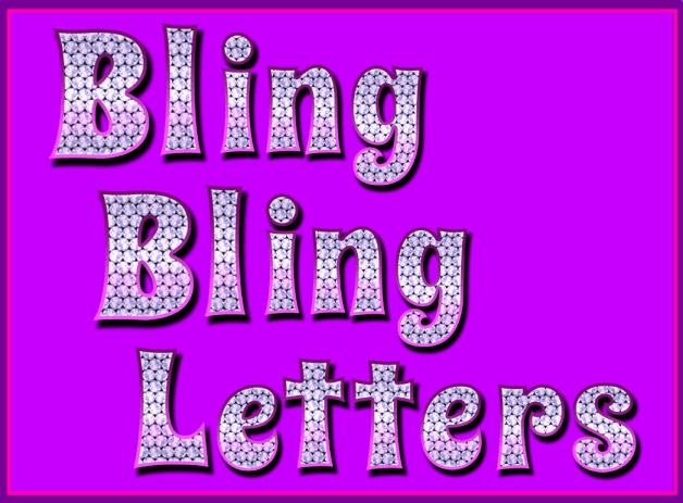 Bling Clip Art Bling bling letters resource